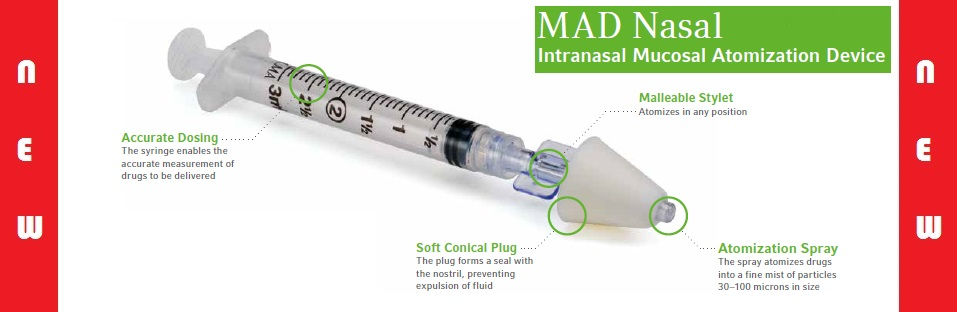 Intranasal Mucosal Atomization Device and Vial Adapter